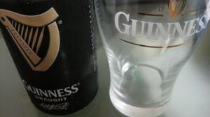 ギネスとグラス