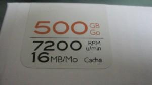 日立 HGST Travelstar パッケージ版 2.5inch 500GB 16MB 7200rpm 0S02599